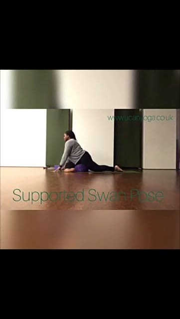 How to do Supported Swan Pose – Yin Yoga