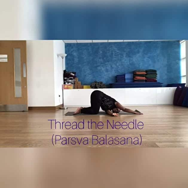 Undo Knots in the Upper Body with Thread the Needle Pose