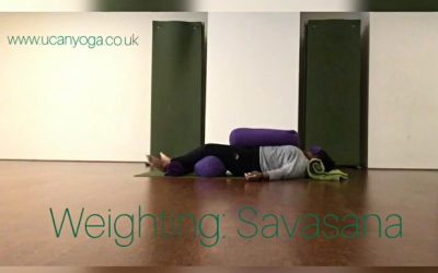Weighting: Savasana – Restorative Yoga for Anxiety