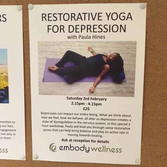 A Second Restorative Yoga for Depression Workshop